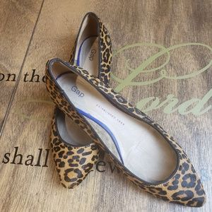 Novelty Pointy Ballet Leopard Print